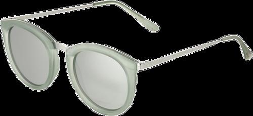 Le Specs NO SMIRKING  Okulary przeciwsłoneczne silver revo mirror