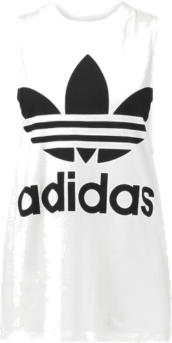 adidas Originals ADICOLOR TREFOIL TANK Top white
