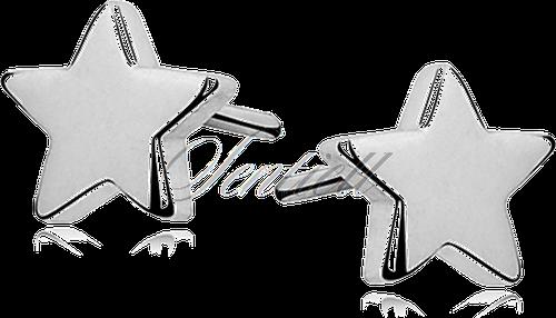 Kolczyki srebrne pr. 925 gwiazdki - Rodowanie
