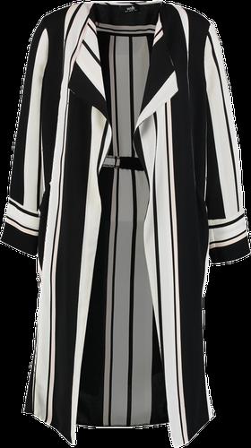 Wallis CUT ABOUT STRIPE DUSTER Płaszcz wełniany /Płaszcz klasyczny black
