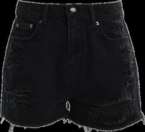 Even&Odd Szorty jeansowe black denim