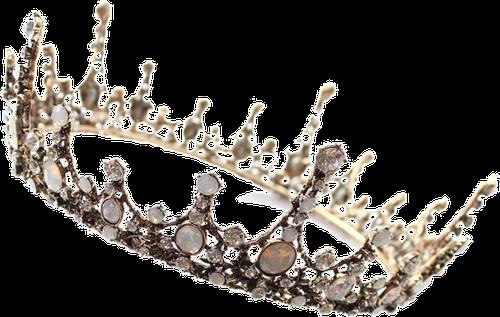 Korona ślubna antyczne złoto