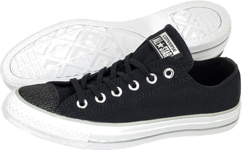 CT All Star OX 559887C Black/Silver (CO325-a)
