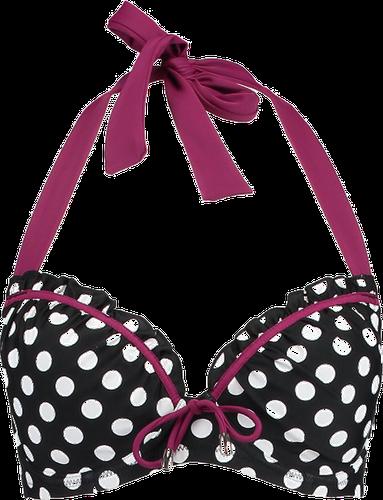 Pour Moi STARBOARD PADDED HALTER UNDERWIRED Góra od bikini black/purple