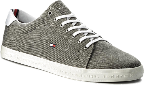 Tenisówki TOMMY HILFIGER - Essential Long Lace Sneaker FM0FM01490 Light Grey 004