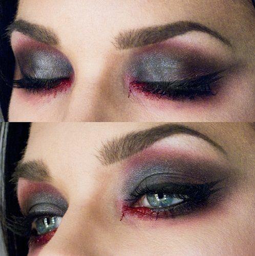 """Makijaż oczu """"przemęczony wzrok"""""""