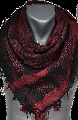 chusta czarno-czerwonaa