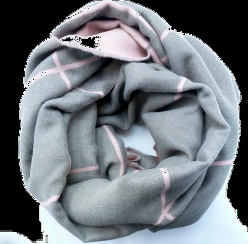 chusta szaro-różowa