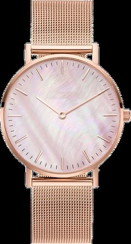 Zegarek damski bransoleta tarcza melanż różowe złoto