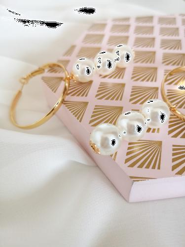 Kolczyki Three Pearls