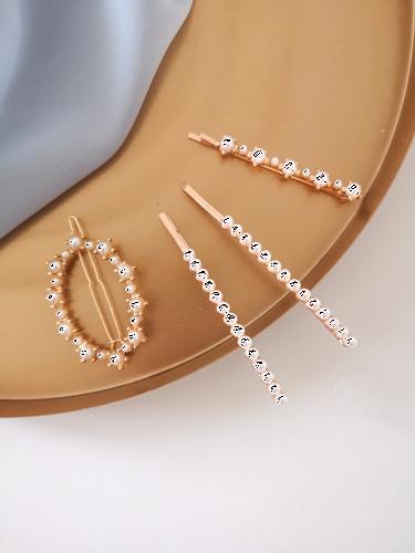 Spinki perłowe zestaw VI