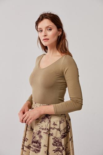 Bluzka Inzolia khaki XXS zielony