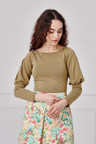 Bluzka Molinara khaki XXS zielony