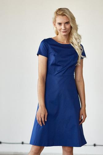 Sukienka Asteria niebieska – krótki rękaw 32 niebieski