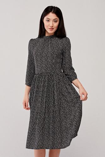 Sukienka Celia czarna w kropki 38 czarny