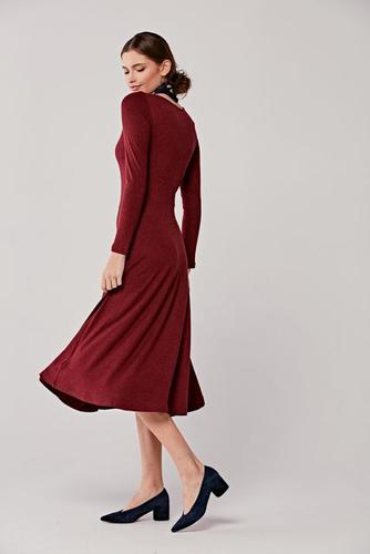 Sukienka Margarita burgundowa melanż 34 bordo
