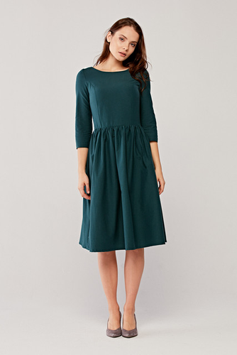 Sukienka Melania butelkowa zieleń 32
