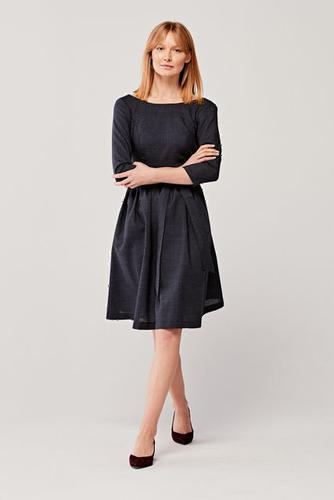 Sukienka Melia wełniana stalowa 40