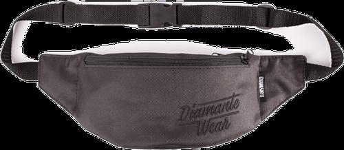 'diamante logo' - nerka/saszetka - czarny/czarny