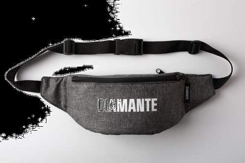 'diamante white logo' - nerka/saszetka - szary jeans