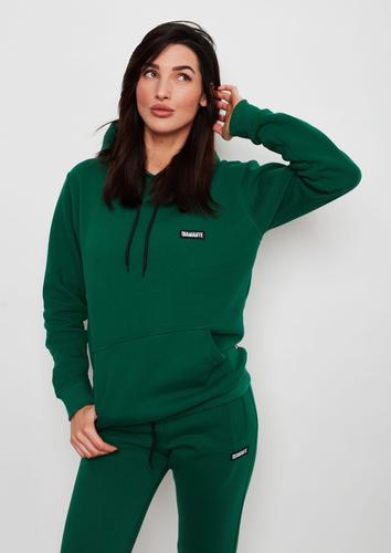 'basic bottle green' - hoodie damska - butelkowa zieleń