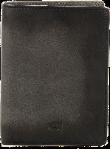Portfel skórzany daag alive p-07 szary vintage w pudełku - szary