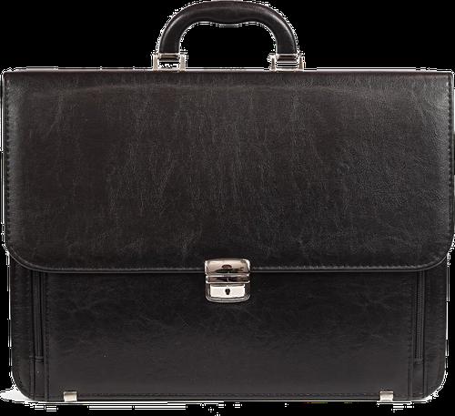 Elegancka czarna teczka biznesowa ze skóry ekologicznej d778