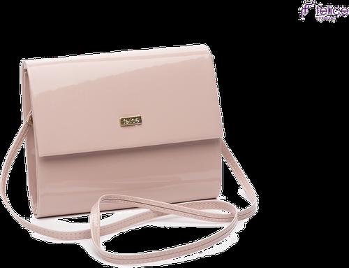 Kopertówka damska felice f14 lakier różowa - kolorowy