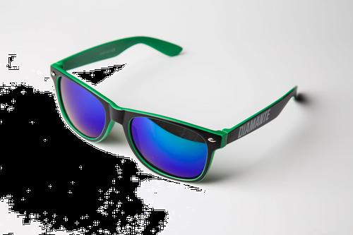 'diamante 3' - okulary - zielone