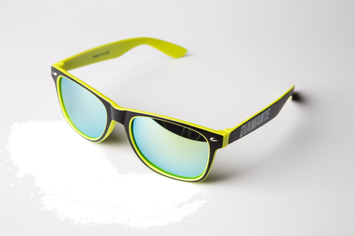 'diamante 3' - okulary - żółte