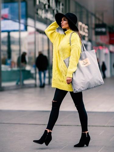 Tote bag z tkaniny płóciennej jasnoszara - street fashion - jasny szary