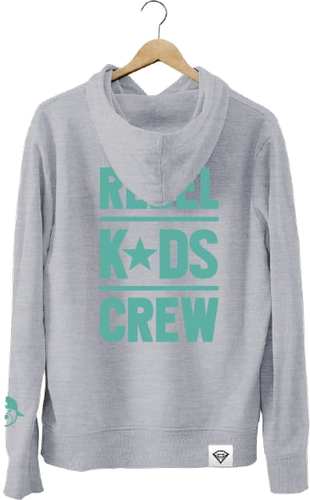 Bluza rebel kids - zip szara