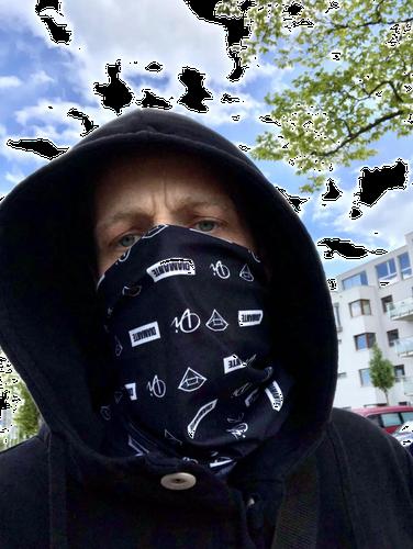 Diamante - bandana/komin - czarna