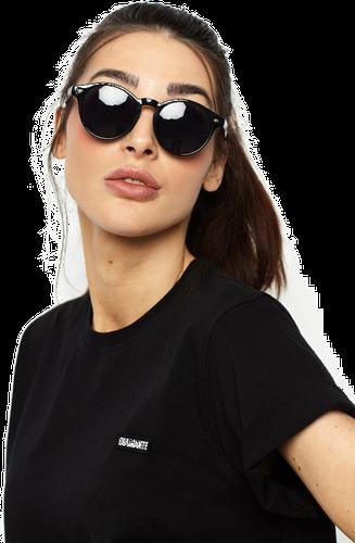 'diamante' - okulary lenonki - czarne