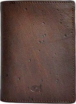 Portfel skórzany daag alive p-01 vintage brązowy w pudełku - brązowy