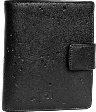 Portfel skórzany męski daag alive p-11 vintage czarny w pudełku - czarny