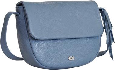 Skórzana listonoszka damska daag native 14 niebieska - niebieski