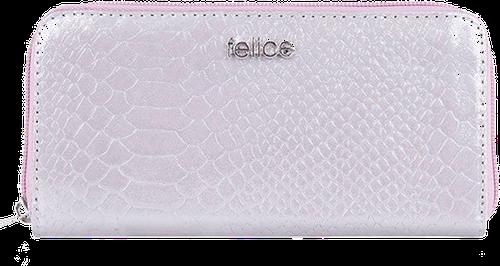 Skórzany portfel damski felice p02 jasnoróżowy - jasny różowy