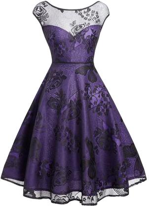 fioletowa z czarną koronką