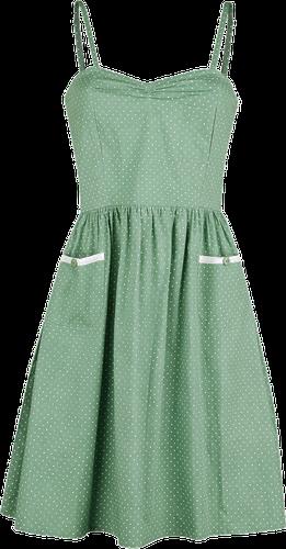 zielona w kropki