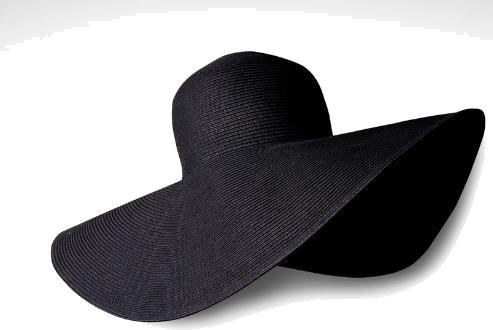 Elegancki czarny kapelusz