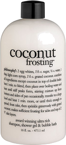 Philosophy 'coconut frosting' shampoo, shower gel & bubble bath