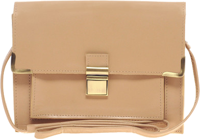 Asos Leather Clean Lock Across Body Bag